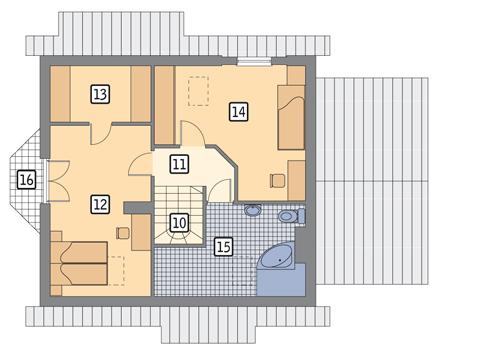 Rzut poddasza POW. 71,3 m²