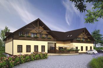 Budynek usługowy z częścią mieszkalną i pokojami gościnnymi