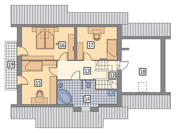RZUT PODDASZA POW. 58,2 m²