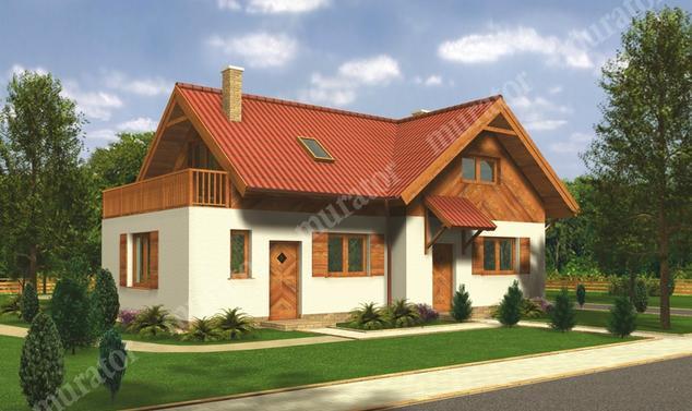 Projekt domu:  Murator C15   – Nastrojowy (dwulokalowy)
