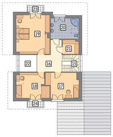 RZUT PODDASZA POW. 83,9 m²