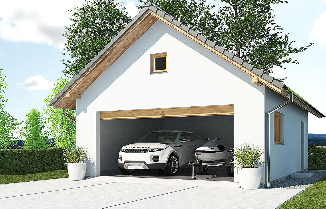 Przykładowy projekt garażu dwustanowiskowego